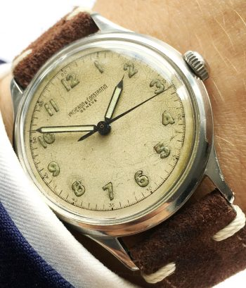Military Vintage Vacheron Constantin with double case back spider dial