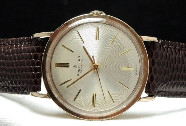Pink Gold Plated Vintage Breitling Automatic structured dial