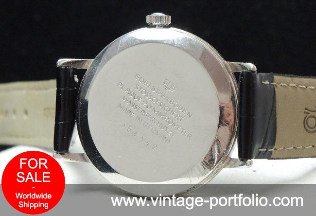Vintage Glashütte black dial 36mm