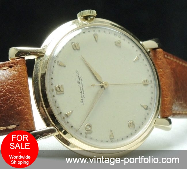 Vintage IWC solid Gold 36mm cal 89