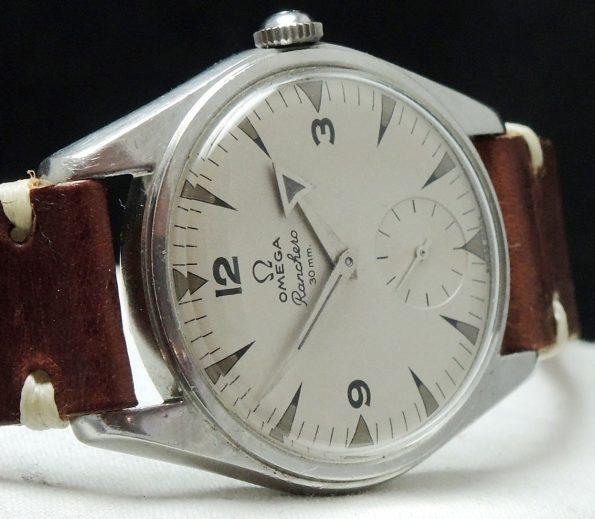 Vintage Omega Ranchero with white patina dial