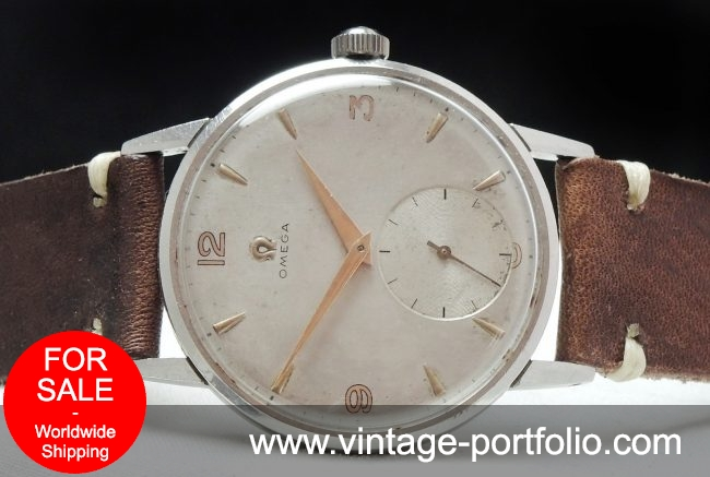 Vintage Omega 38mm Oversize Jumbo Steel Vintage