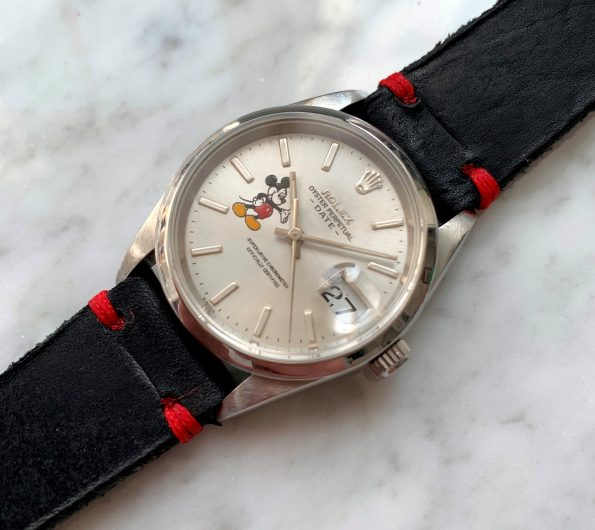 Saphire Glas Vintage Rolex Date Mickey Mouse Dial Automatic Ref 15200