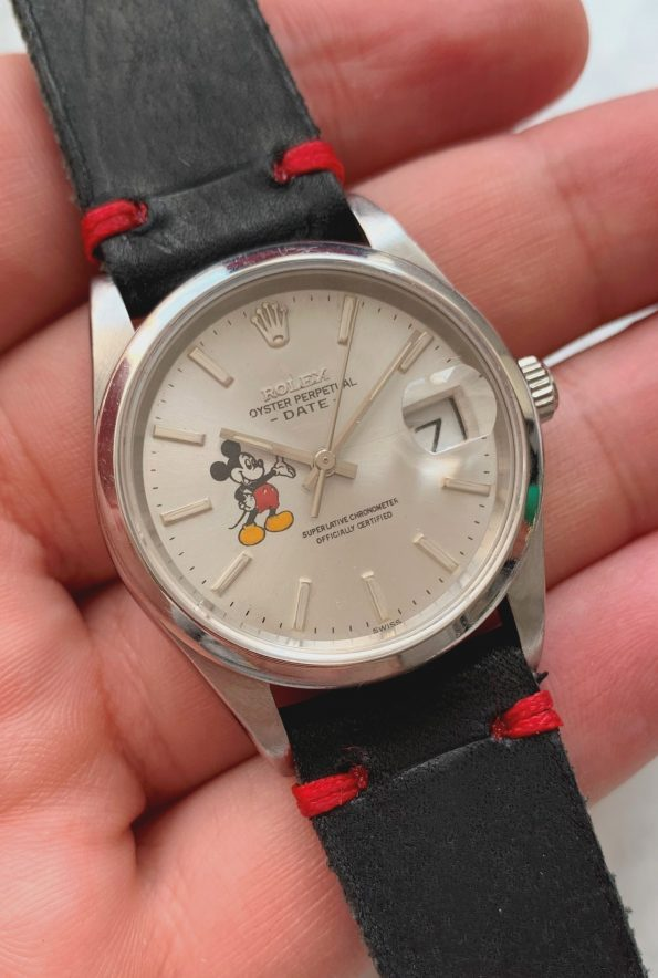 Ref 15200 Rolex Date with Painted Mickey Mouse Dial Automatic