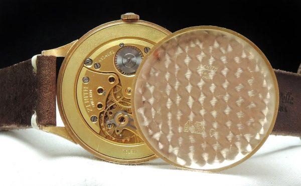 Vintage Zenith 37mm Oversize Jumbo Soild Pink gold