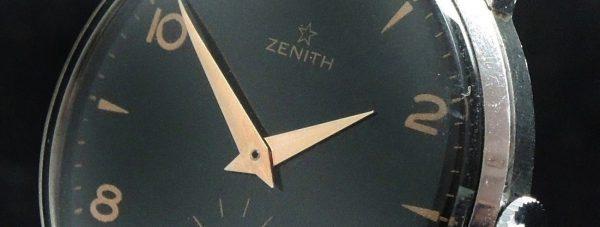 Vintage Zenith 37mm Oversize Jumbo black dial