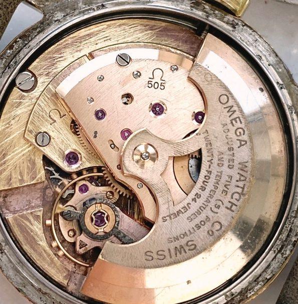 Superrare Omega Seamaster Automatic BIG GOLDEN SEAHORSE Vintage Black Restored Dial