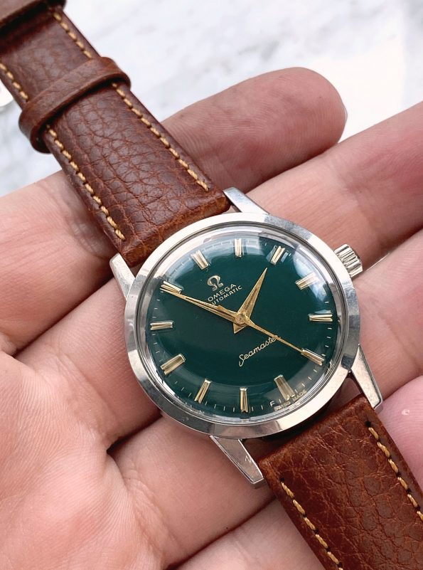 Customised Omega Seamaster Automatic Vintage Custom Green Restored Dial