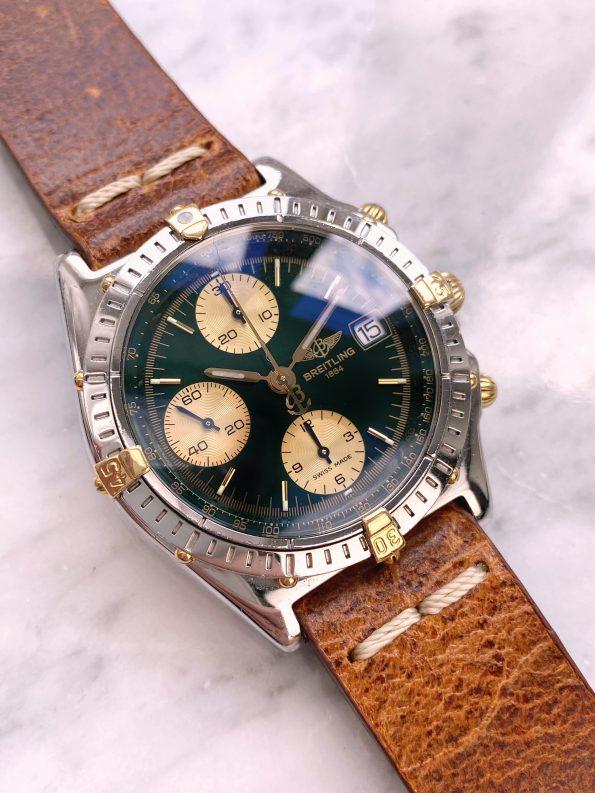 Rare Vintage Breitling Chronomat green dial Automatic Chronograph