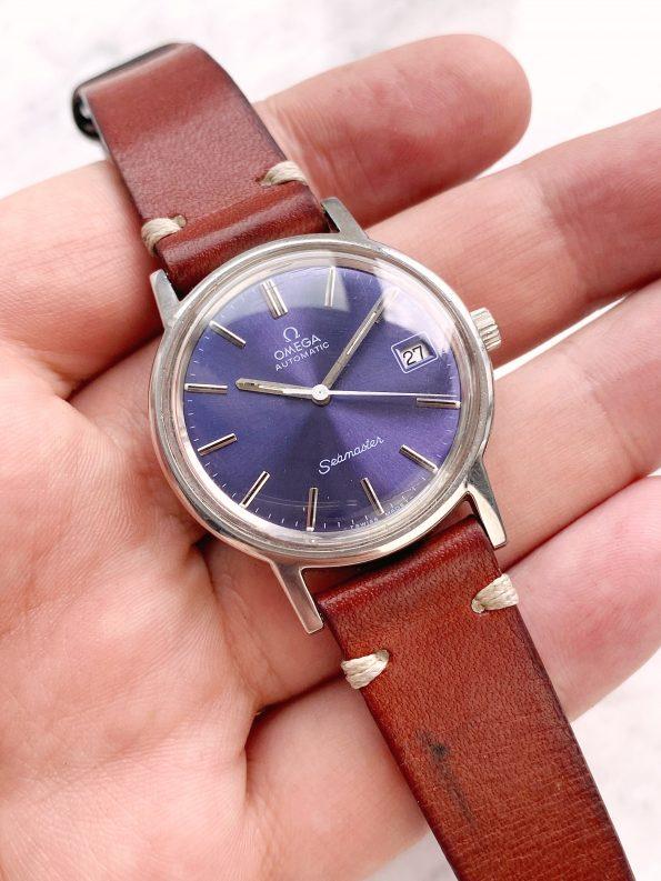Customised Franken Omega Seamaster Geneve Automatic Vintage Custom Purple Restored Dial 166.0163
