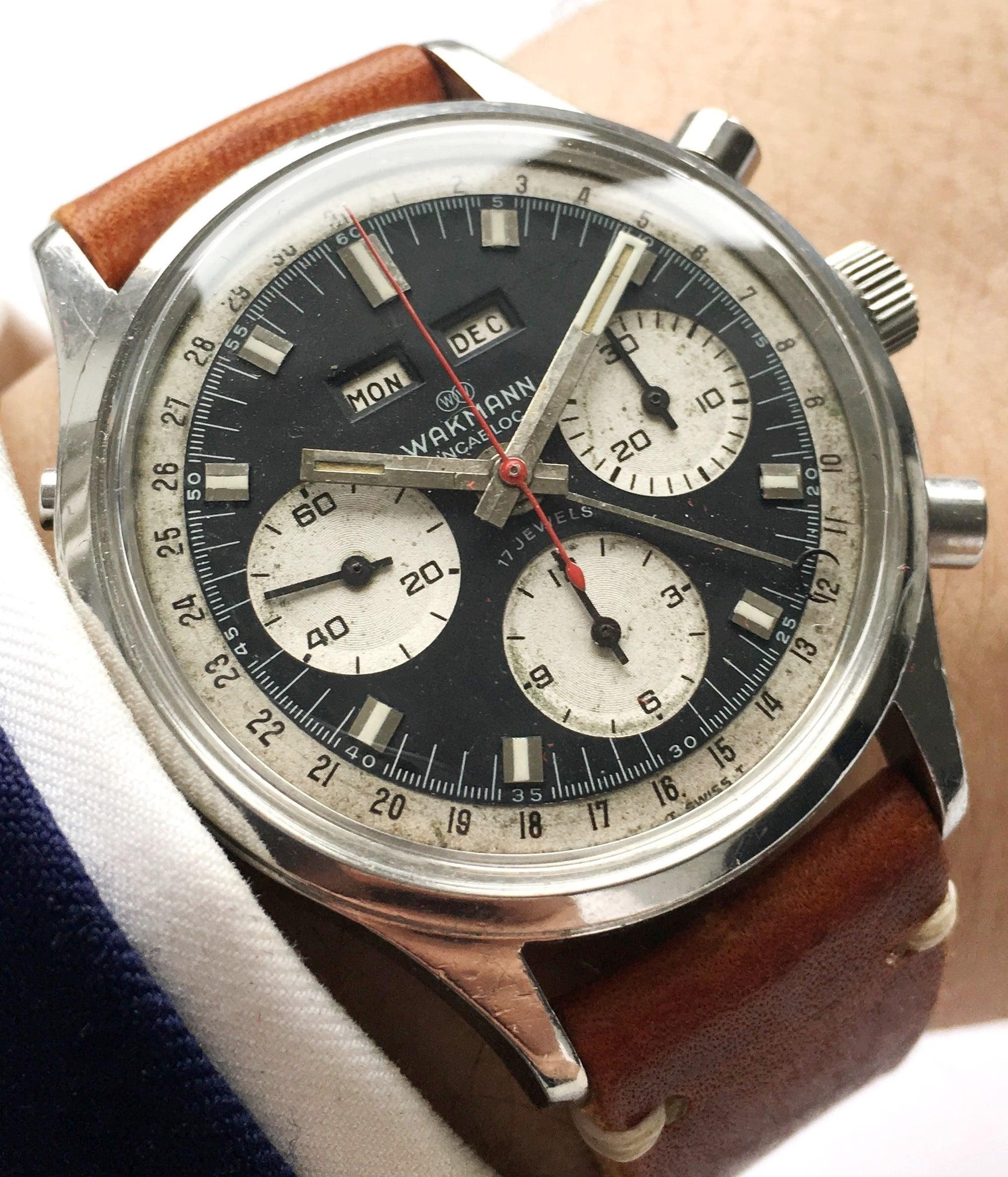 Serviced Wakmann Vintage Chronograph Triple Date