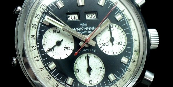 Serviced Wakmann Vintage Chronograph Triple Date