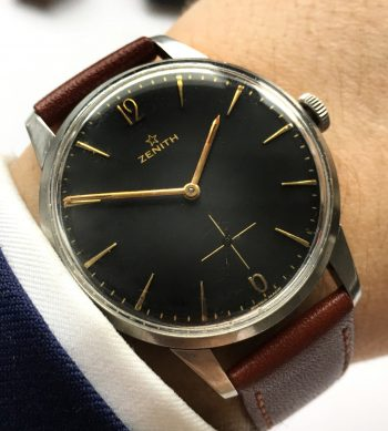 Beautiful Zenith 37mm Oversize Jumbo black dial