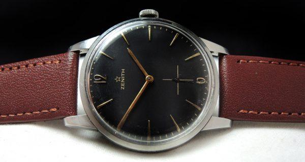 Beautiful Zenith 37mm Oversize Jumbo black dial