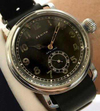 42mm Vintage Zenith Pilots Military World War ww2 wk2 watch