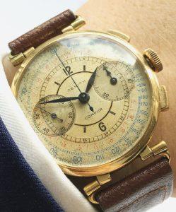 [:en]Zenith Sector dial Chronograph 37mm Jumbo Oversize Gold[:de]Zenith Sektor dial Vintage Chronograph 37mm Jumbo Oversize[:]