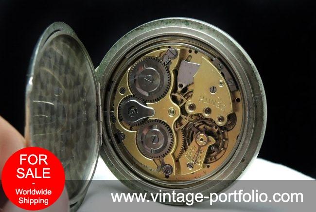 Rare Zenith Pocket Watch with Alarm