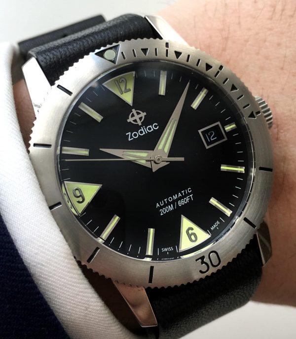 Zodiac Seawolf Diver Watch with rotating bezel
