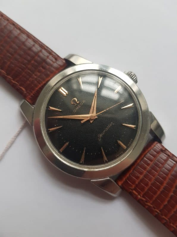 Superrare Black Honeycomb dialed Omega Seamaster cal 420