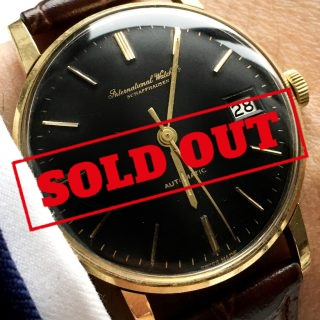 Reserved Wonderfull IWC Automatic Automatik solid gold black dial
