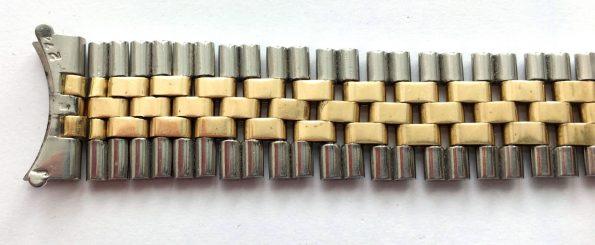 Original Rolex 18mm Jubilee Steel Gold Strap, 6252H 14