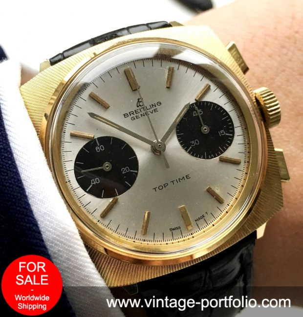 Perfect Breitling Top Time Chronograph Panda Dial