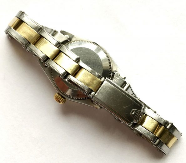 Serviced Rolex Ladies Datejust Oyster Perpetual Date Steel Gold