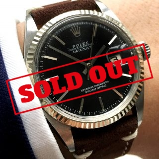 Serviced Rolex Datejust Automatic black dial 1601 Vintage