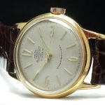 Perfect Glashütte Vintage  watch with structured dial