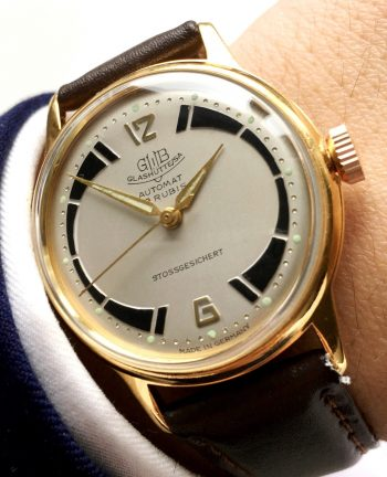 Wonderful Glashütte Vintage  watch with two tone dial