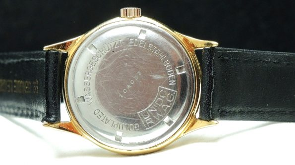 Wonderful Glashütte Vintage watch with structured dial