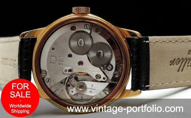 Serviced Glashütte Vintage  watch with structured dial