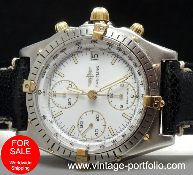 Serviced Breitling Chronomat with white dial