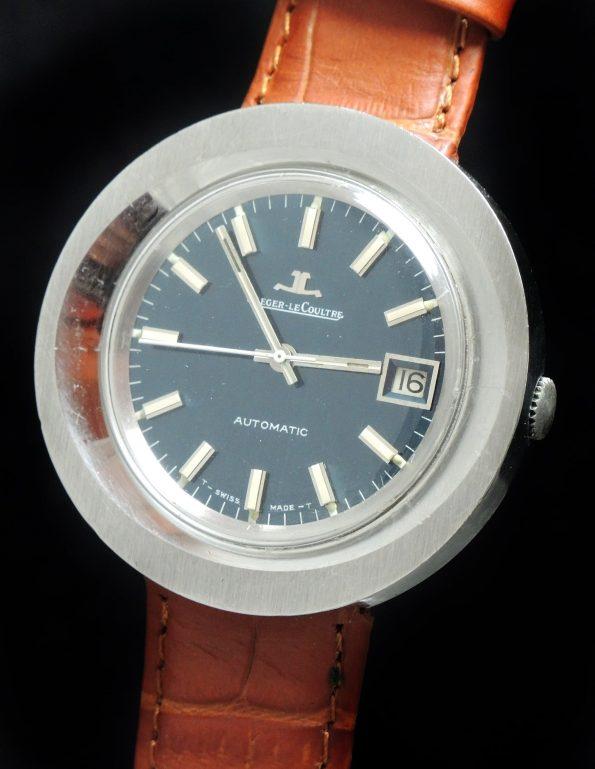 Jaeger leCoultre Stahl Vintage Automatic Automatik watch 70ties