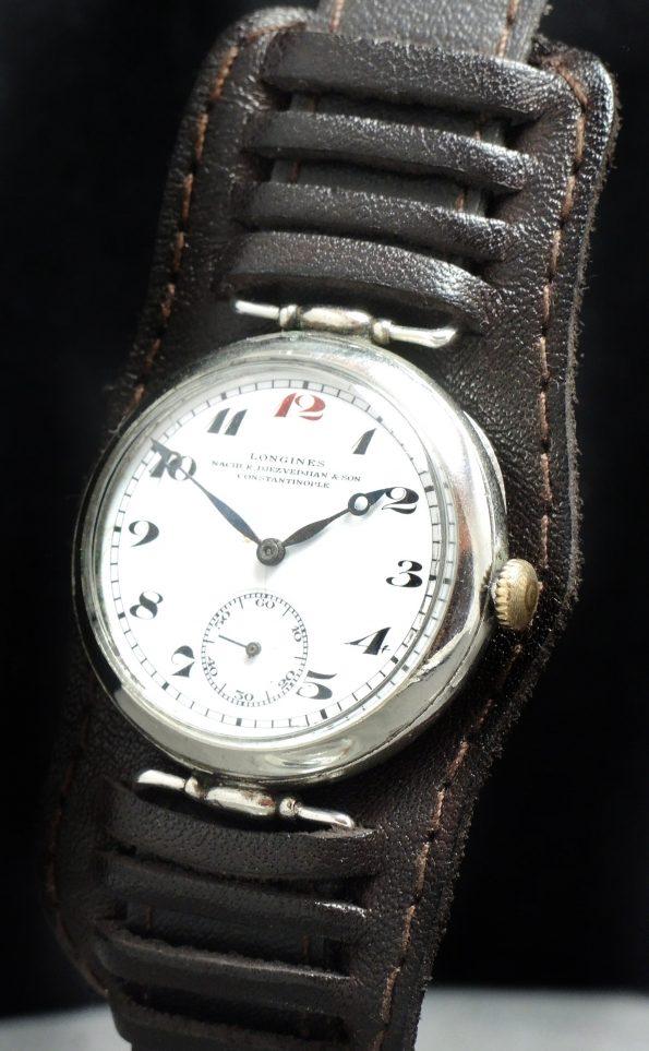 Wonderful Longines Vintage WW1 WK1 Military Watch with Juwelers Signature