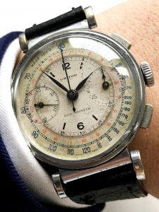 [:en]Grosser Ghitor Vintage Chronograph mit Two Tone ZB[:de]Big Ghitor Vintage Chronograph with Two Tone dial[:]