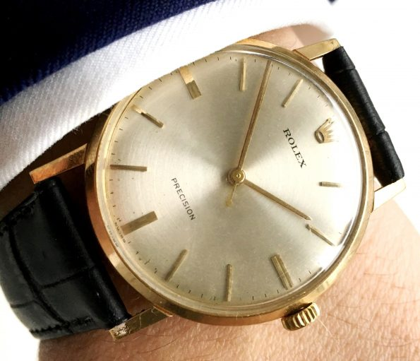 Serviced Rolex Precision 18ct carat gold vintage