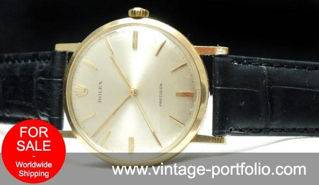 Serviced Rolex Precision 18ct carat gold vintage