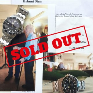 Helmut SINNs personal watch Guinard Diver with his Signature
