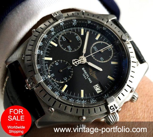 Serviced Original Breitling Chronomat with black dial