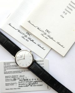 Amazing IWC Portofino Watch in Solid White Gold Ultra Thin
