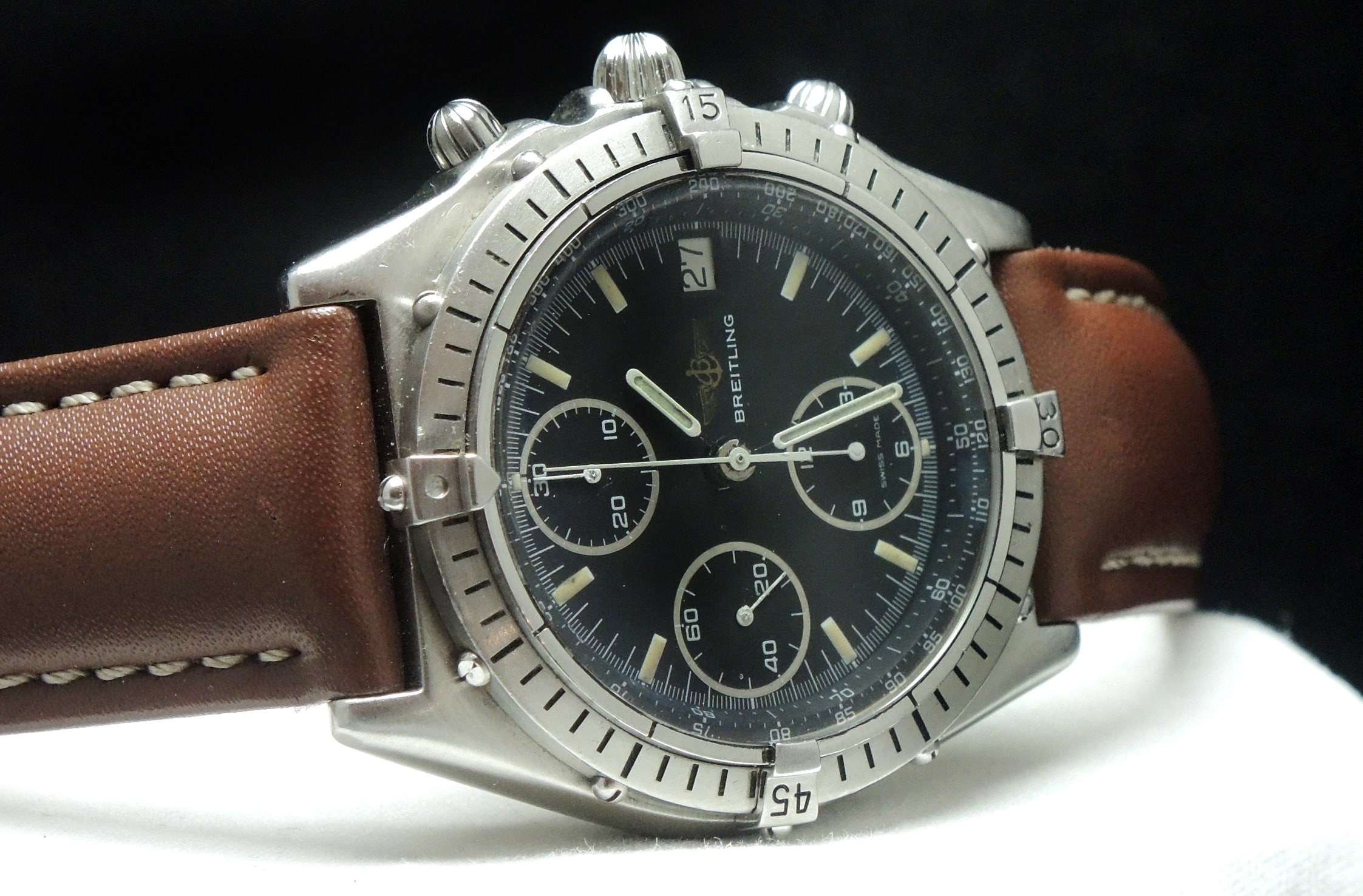 Wonderful breitling chronomat automatic b13047 vintage portfolio for Breitling automatic