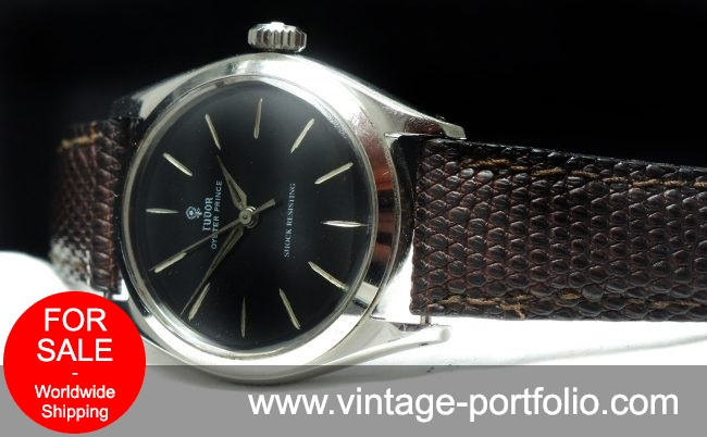 Tudor Oyster Prince with black dial Vintage