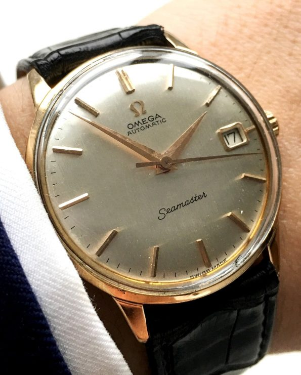 Omega Seamaster Automatik Automatic Solid 18 ct Pink Gold Linen dial