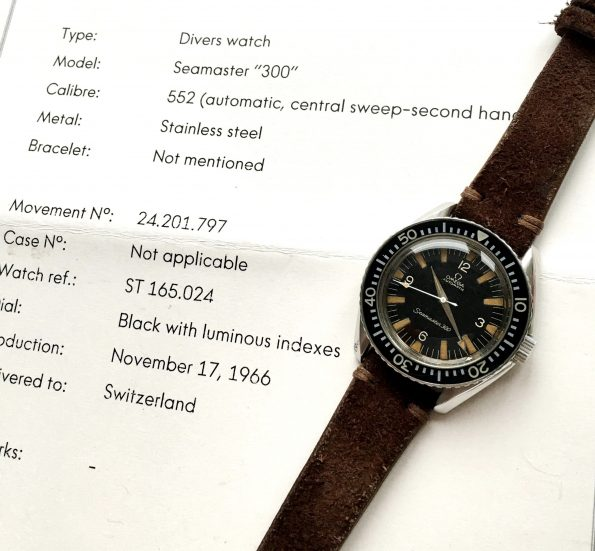 1967 Vintage Omega Seamaster 300 with Broad Arrow Dauphine Hands