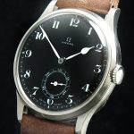 Early  Omega 30T2 Oversize Jumbo 38mm with black dial ww2