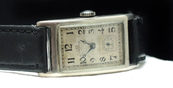 Rare Omega Tank watch 925 solid silver case ww1 ww2 rectangular