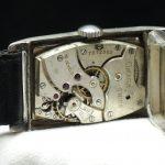 Oversize Jumbo Omega Tank watch 925 solid silver case ww1 ww2