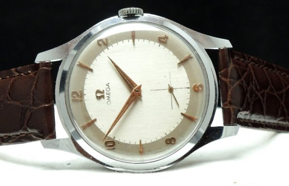 Serviced 37mm Omega Oversize Jumbo with two tone dial