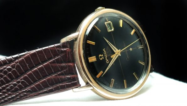 Currently in Service:  Pink gold plated Omega Constellation Automatic with black dial